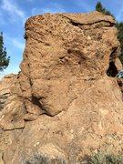 Rock Climbing Photo: South face of Hueco Boulder.
