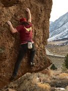 Rock Climbing Photo: The face problem