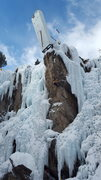 Rock Climbing Photo: Ouray Comp Wall!!!  It looks like a hard M8 to rea...