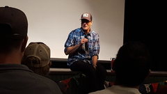 Rock Climbing Photo: Conrad Anchor doing a great session of Q&A after p...