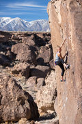 Rock Climbing Photo: Hannah Michelle cruising Black Magic V3R