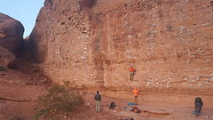 Rock Climbing Photo: Climbing at the Walla Walla Wall after hitching a ...