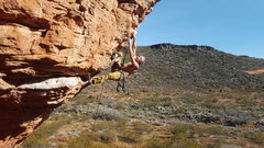 Rock Climbing Photo: Getting funky on the Turtle Wall in St. George.