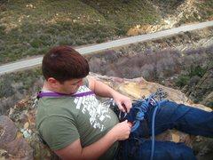 Rock Climbing Photo: Richard Duncan on the summit