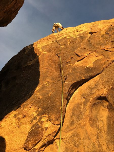 Rock Climbing Photo: Infamous Dick Cilley topping out Under the Hammer