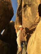 Rock Climbing Photo: Make like this guy and be psyched when you climb. ...
