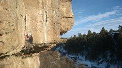 Rock Climbing Photo: Daniel L. crankin' the first lip!