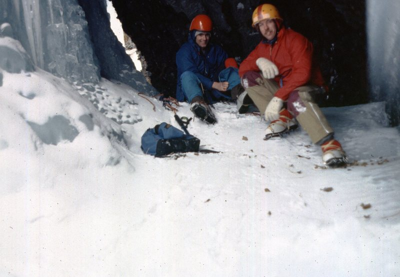 Pat Thompson & me behind the Pillar of Pain, March 1986