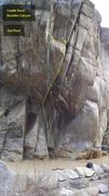 Rock Climbing Photo: Aid Roof. Right and left cracks.