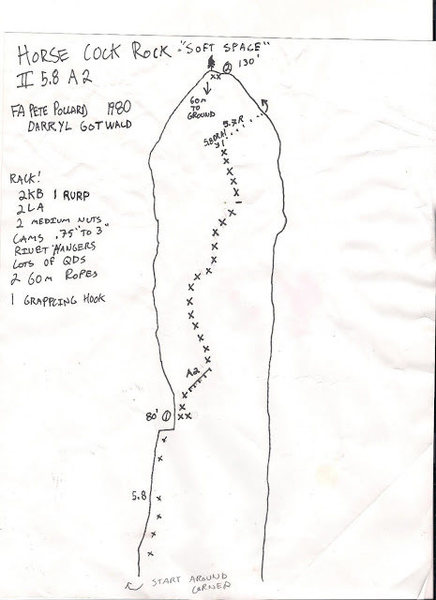 Topo of original aid line. Courtesy of Tyler Adams
