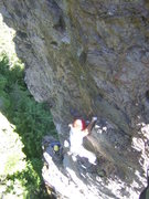 Rock Climbing Photo: Low on the second pitch. Courtesy of Tyler Adams
