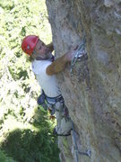 Rock Climbing Photo: Leaving the arete....the climbing gets harder for ...