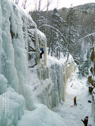 Rock Climbing Photo: Ice in its thinner condition. Photo by Jay Briscoe...
