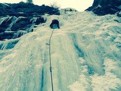 Rock Climbing Photo: Ice battle in Battle Creek