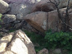 Rock Climbing Photo: The prow from the side. This is what it will look ...