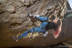 Rock Climbing Photo: Tammy Wilson projecting High Plains Drifter.  phot...