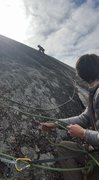Rock Climbing Photo: 3rd pitch lead on Mark of the Beast (Enchanted Roc...