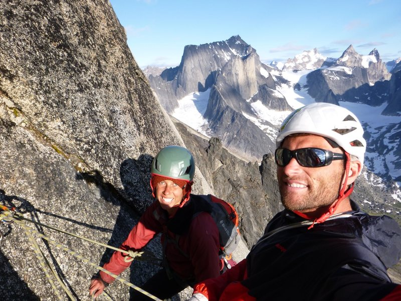 Rock Climbing Photo: Jenny and I on our honeymoon in southern Greenland...