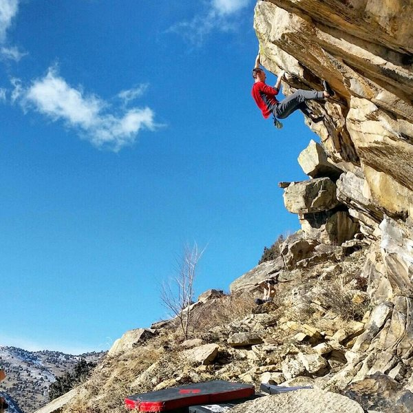 Rock Climbing Photo: Matt Lloyd on Hairy Scary Direct.