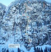 Rock Climbing Photo: The topo.