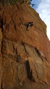 Rock Climbing Photo: Jesse Schultz savors a rest prior to the crux.