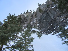 Rock Climbing Photo: The last three pitches. Head up and left from here...