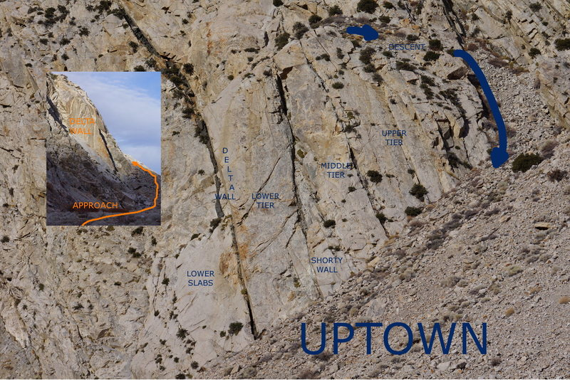 Rock Climbing Photo: Uptown Rock Overview