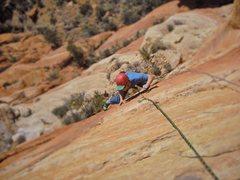 Rock Climbing Photo: P2 Stunner upper face