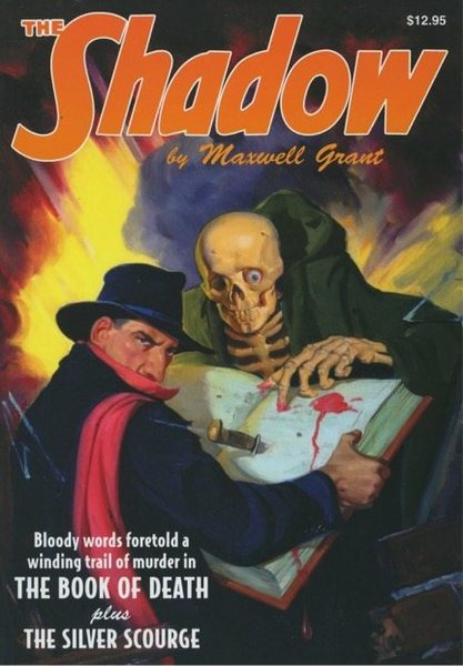 """The Shadow""@SEMICOLON@ 1930's pulp fiction series, known for the line ""Who knows what evil lurks in the hearts of men?"" Analogy: ""Who knows what evil in the forms of crevasses, moulins and other fun rides exist here?"""