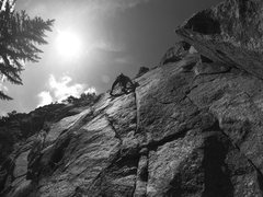 Rock Climbing Photo: Ilya making moves.