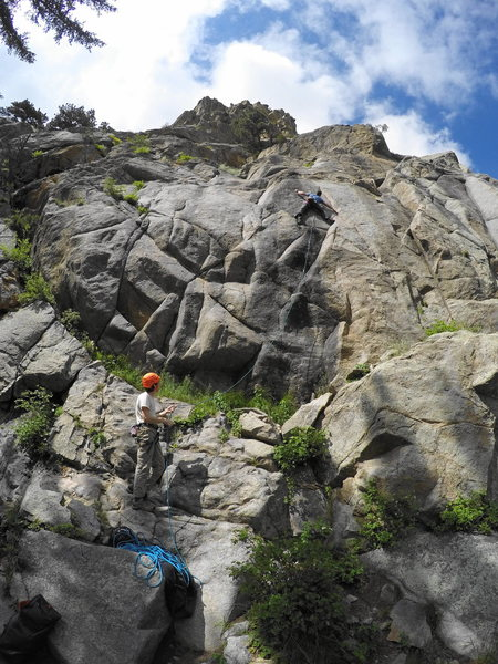Rock Climbing Photo: Here's an overview of the route location. It's ste...