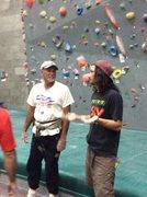 Rock Climbing Photo: the Mayor and I