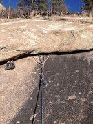 Rock Climbing Photo: The anchor area.