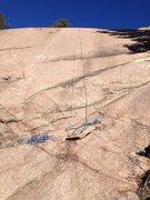 Rock Climbing Photo: The climb follows the ropes.