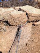 Rock Climbing Photo: A good block to anchor to.