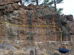 Rock Climbing Photo: Honeycomb Wall Topo