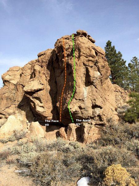 Rock Climbing Photo: Corner Boulder Topo