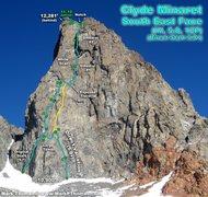 Rock Climbing Photo: Clyde's southeast face.