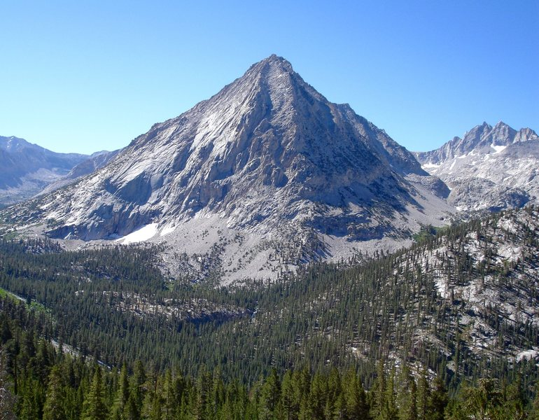 The East Ridge on left. Photo taken from JMT.
