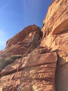 Rock Climbing Photo: start of the third pitch