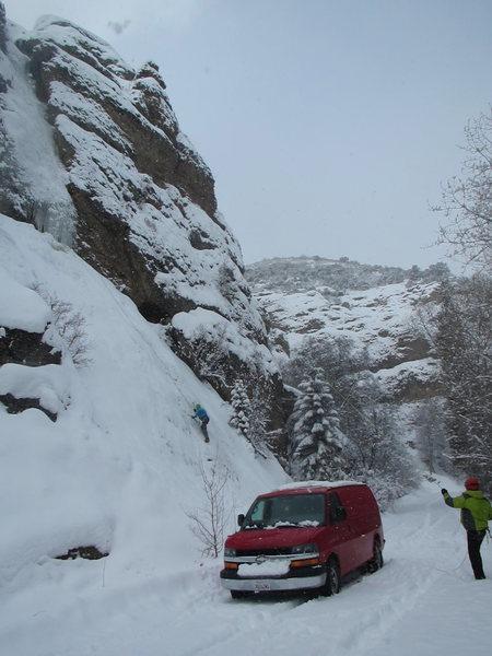Rock Climbing Photo: Running Man 1-24-16