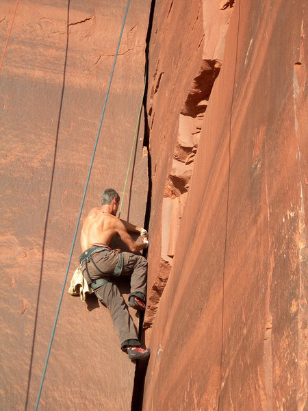 Rock Climbing Photo: Crack climbing is overrated when you know how to l...