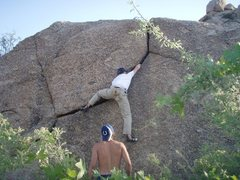 Rock Climbing Photo: Simon getting it done on the awesome handcrack