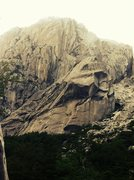 Rock Climbing Photo: The formations El Penon and Mini Frey in Valle Tri...