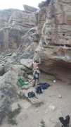 Rock Climbing Photo: Great view of the beginning of the route. Tricky s...