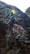 Rock Climbing Photo: Jared making it look good. Looking practically str...