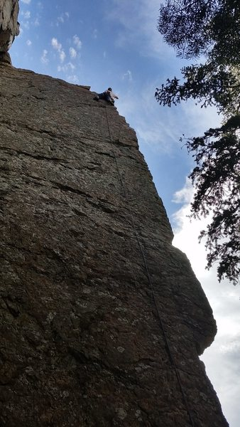 Rock Climbing Photo: Finally feeling good after clipping into the secon...
