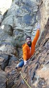 Rock Climbing Photo: Taylor enjoying the exposure - pulling along the s...