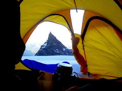 Rock Climbing Photo: Little Tahoma from upper bivy area.