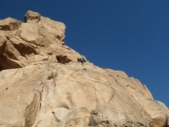 Rock Climbing Photo: Pitch one and heading towards the first belay.